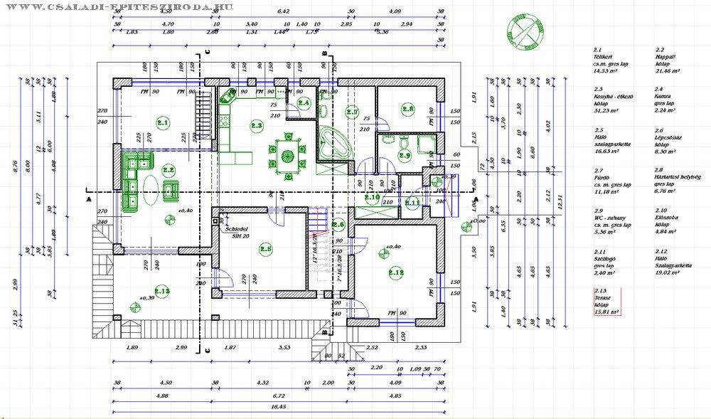 Mediterrán családi ház tervek